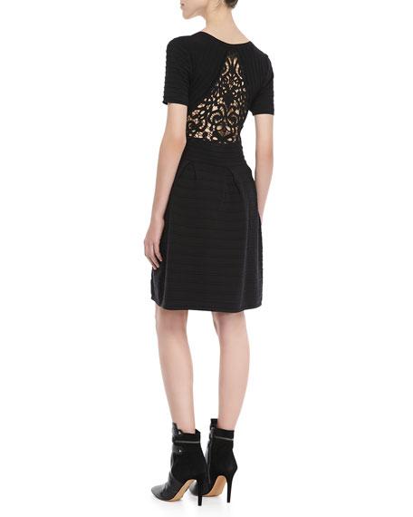 Grace Short-Sleeve Knit Dress