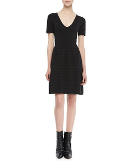 French Connection Grace Short-Sleeve Knit Dress