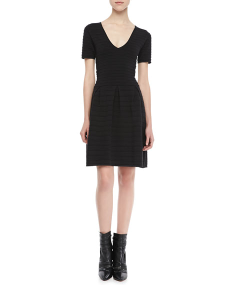 Grace Short-Sleeve Knit Dress