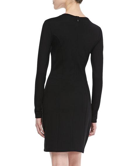 Olivia Long-Sleeve Combo Dress