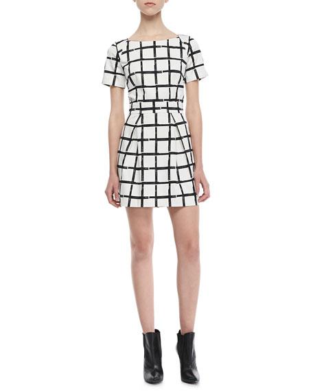 Richie Paint-Check Dress