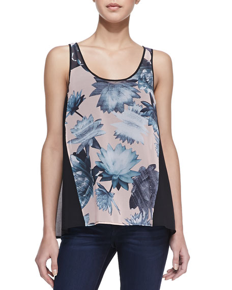 Lily Collage Floral-Print Tank Top