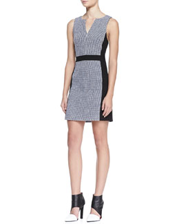 4.collective Rasia Paneled Tweed Dress