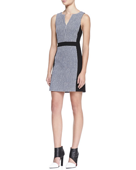 Rasia Paneled Tweed Dress
