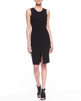 French Connection Stephanie Cutout Jersey Dress, Black
