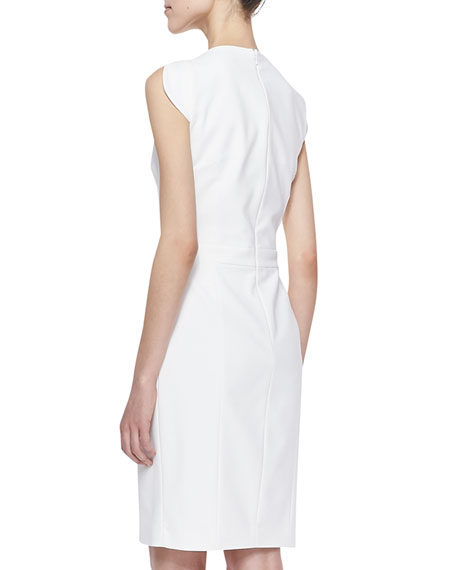 Lolo Cutaway Stretch Classic Dress, White