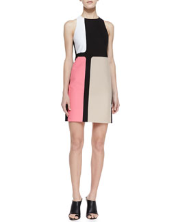 4.collective Colorblocked Crepe Dress, Azalea