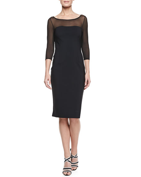 3/4-Sleeve Cocktail Dress