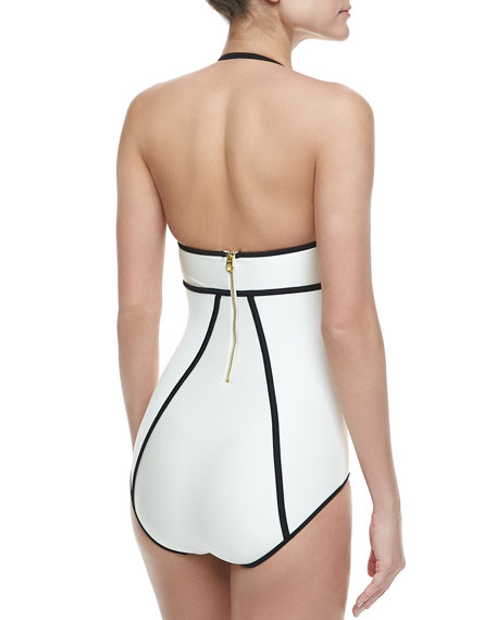 Le Shine Outlined Maillot Swimsuit