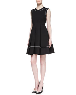 kate spade new york hope sleeveless pleated dress