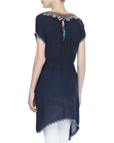 Sweet Dreams Embroidered Georgette Tunic, Women's