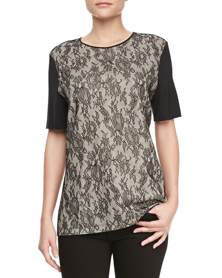 Combo Lace Short-Sleeve Tee