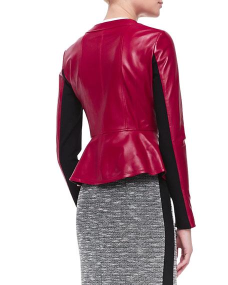 Sugar Leather/Knit Jacket