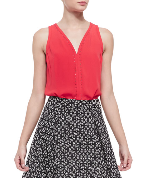 Lawless Stud-Trim Sleeveless Top