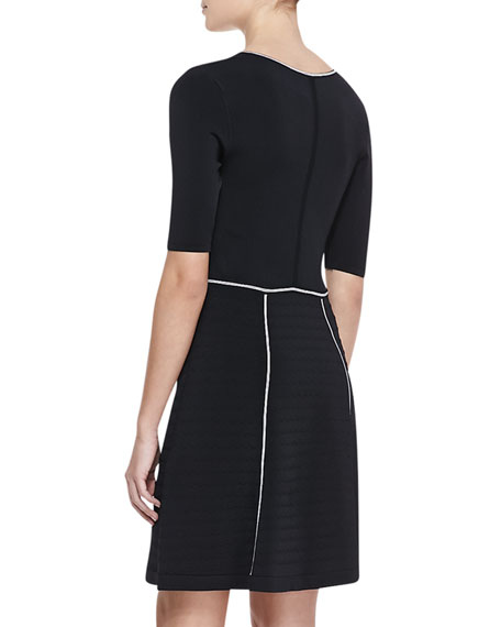 Scandalous Contrast-Trim Dress