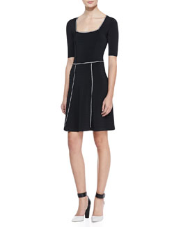 Nanette Lepore Scandalous Contrast-Trim Dress