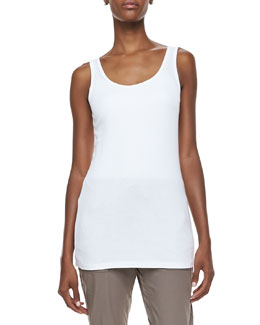 XCVI Long Slim-Fit Cotton Tank, Women's