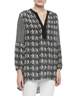 Tolani Monisha Print Long Tunic