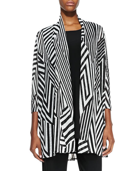 Divided Lines Long Cardigan