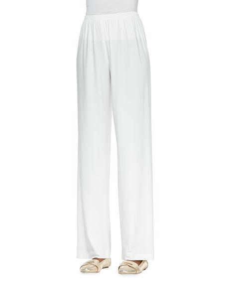 Straight-Leg Knit Pants, Petite
