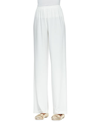 Straight-Leg Knit Pants