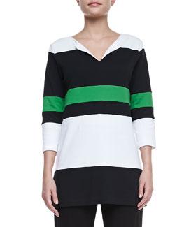 Joan Vass Bold Striped Easy Tunic