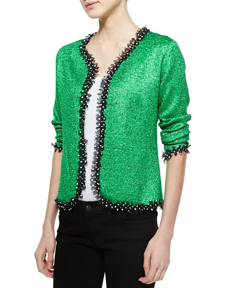 Reversible Petal-Trim Jacket