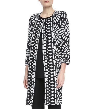 Giovanna Printed Long Coat, Women's