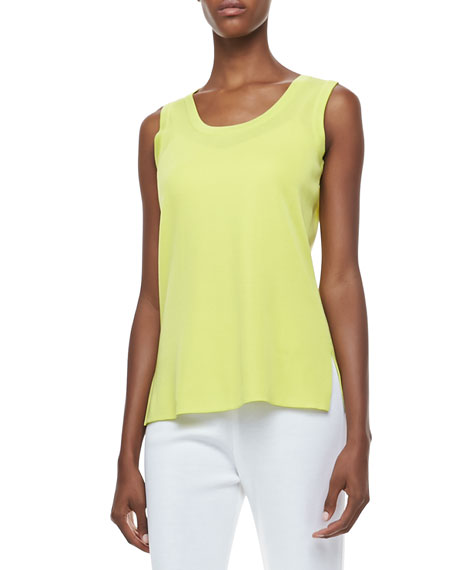 Amy U-Neck Tank, Limelight