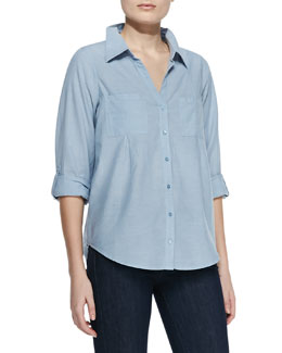 Joie Cartel Cotton Gauze Blouse