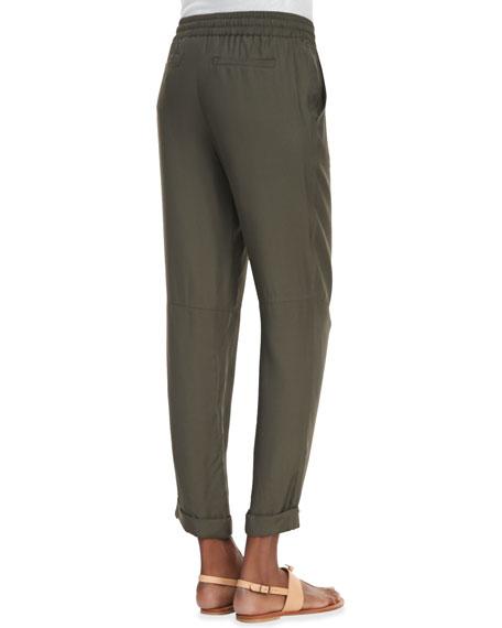 Loose Jersey Drawstring Pants