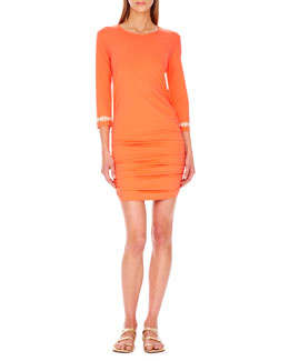 MICHAEL Michael Kors  Shirred-Hem Coverup Dress