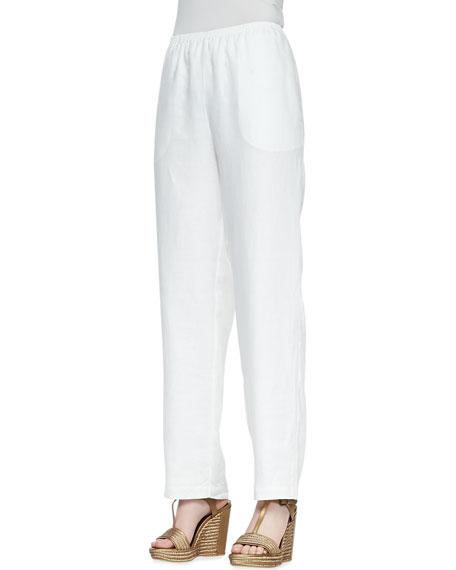 Straight-Leg Linen Pants, Women's