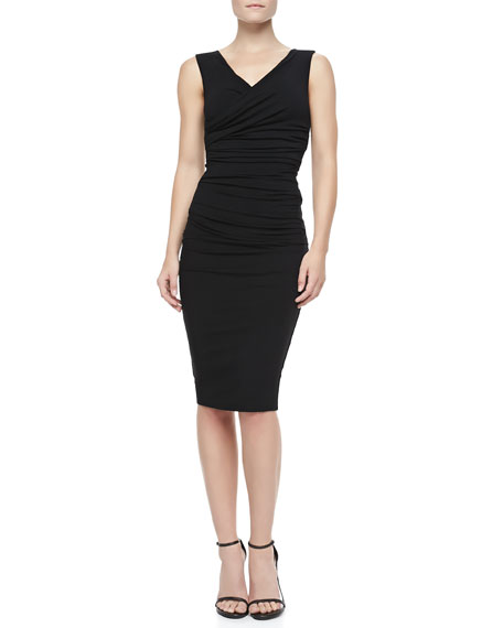 Marilyn Sleeveless Ruched Jersey Dress