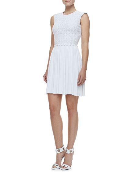 Debbie Pleat-Skirt Dress