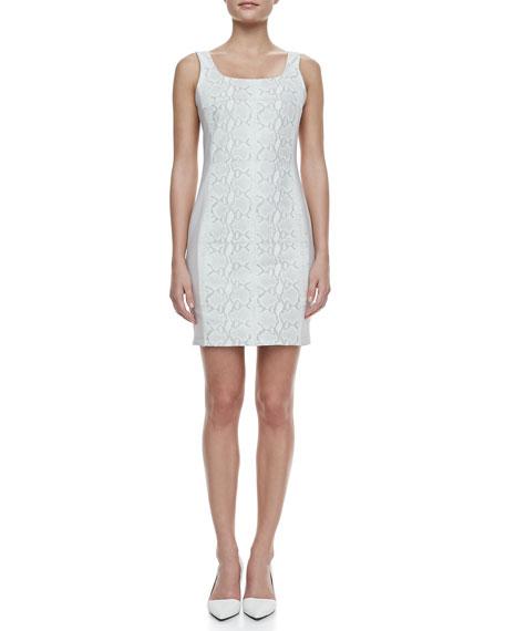 Anita Snake-Print Leather Dress