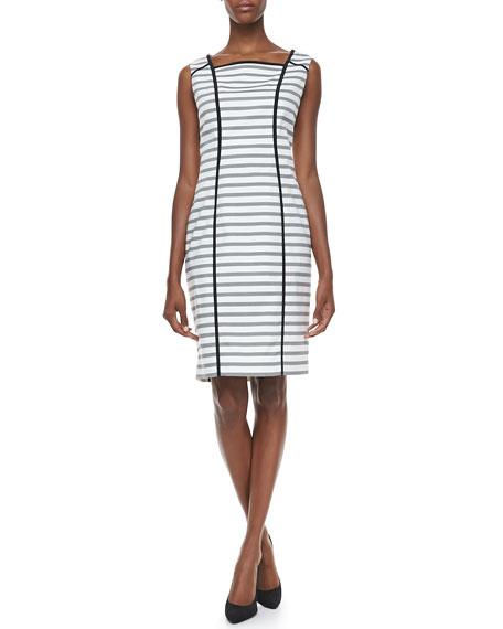Striped Jacket & Sheath Dress
