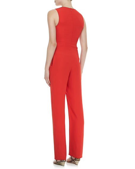 Celia Cross-Neck Jumpsuit
