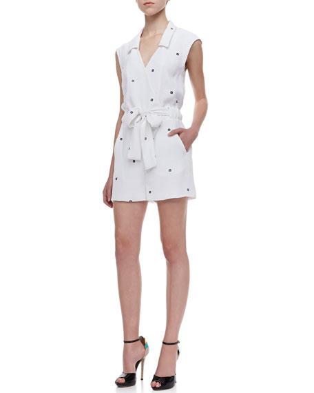 Daisy Printed Tie-Waist Jumpsuit