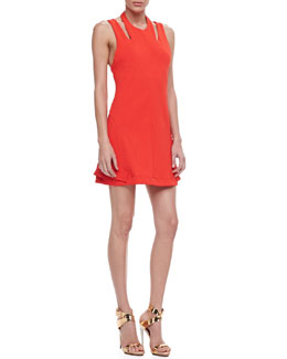 Opening Ceremony Apex Jersey Cutout Dress