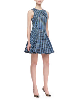 Opening Ceremony Wavy Cross-Panel Dress, Multicolor