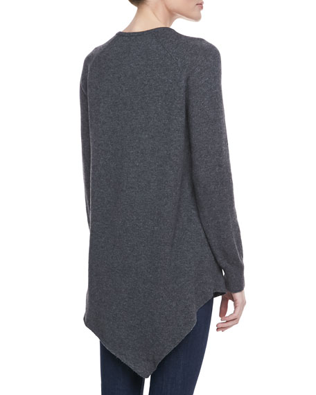 Shatoria Asymmetric Knit Sweater