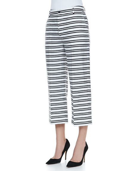 Caldwell Striped Cropped Trousers