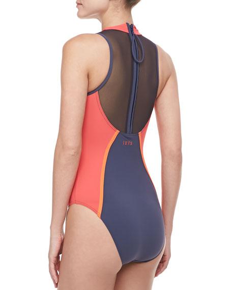 High Neck Racer Swimsuit