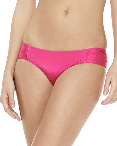 JETS by Jessika Allen Ruched-Side Swim Bottom