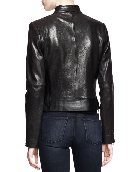 Robyn Crackled Leather Jacket