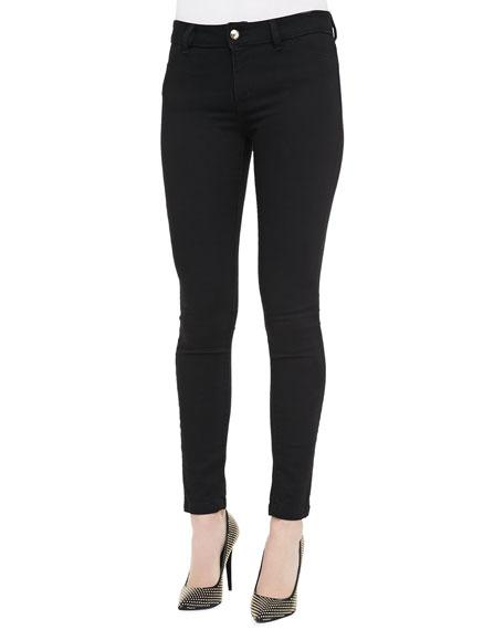 Solid Skinny Jeans, Black