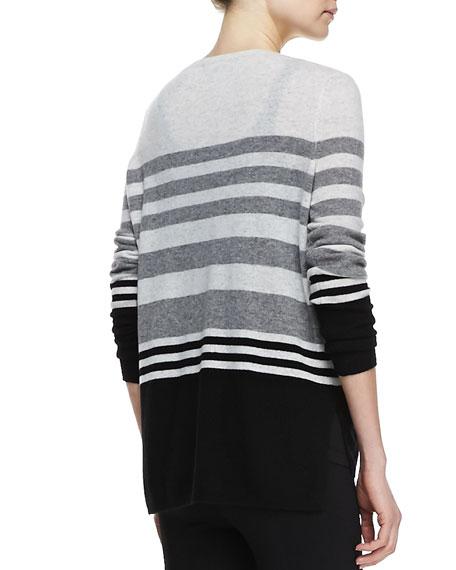 Colorblock Striped Cashmere Sweater