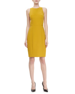 Jason Wu Racerback Wool Dress, Gold