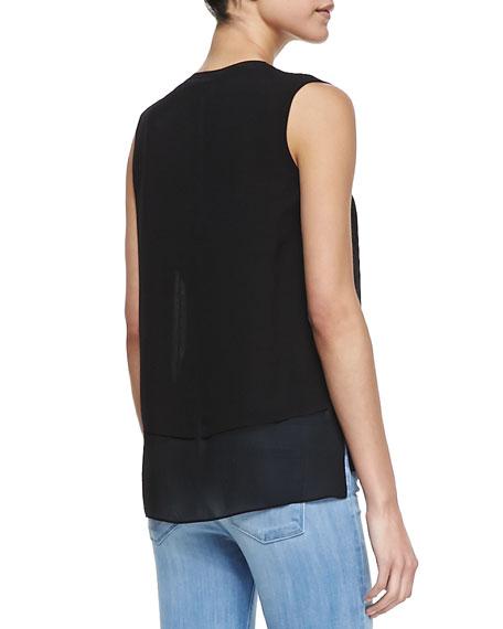 Silk/Rayon Layered Blouse